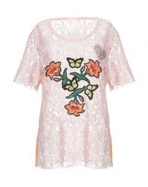 Блузка FEMME by MICHELE ROSSI. Цвет: пастельно-розовый
