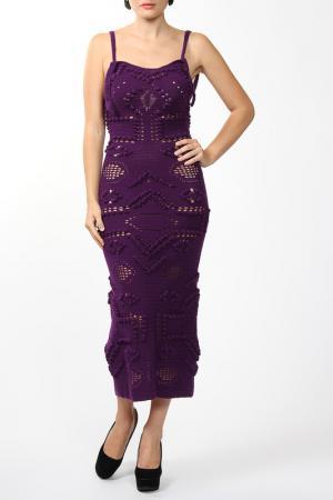 Платье вязаное Dennis Basso. Цвет: мультицвет
