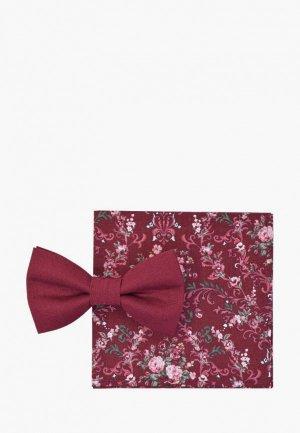 Бабочка и платок Rainbowtie. Цвет: бордовый