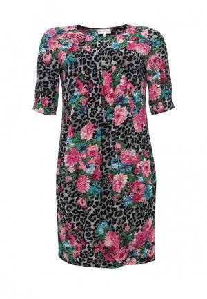 Платье Bassini. Цвет: разноцветный