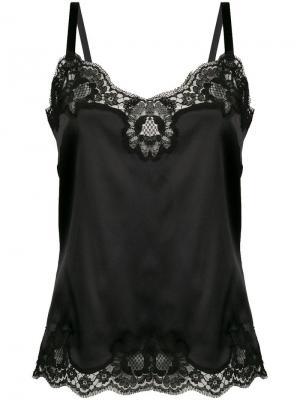 Топ на бретельках с кружевом Dolce & Gabbana. Цвет: черный
