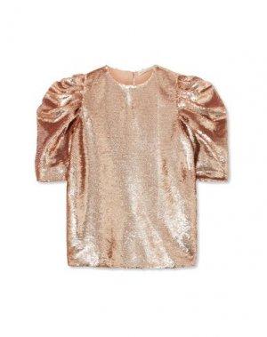 Блузка ULLA JOHNSON. Цвет: медный