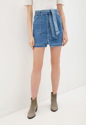 Юбка джинсовая Glamorous. Цвет: синий