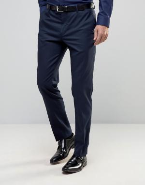 Зауженные брюки под смокинг Premium Jack & Jones. Цвет: темно-синий