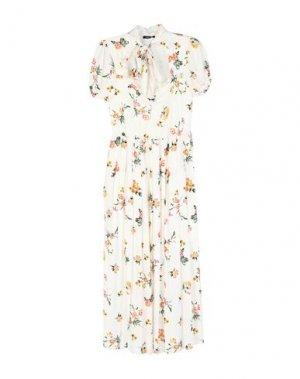 Длинное платье DENNY ROSE. Цвет: белый