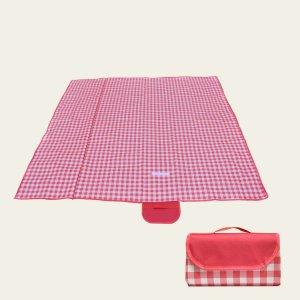 1шт Коврик для пикника в клетку SHEIN. Цвет: красный и белый
