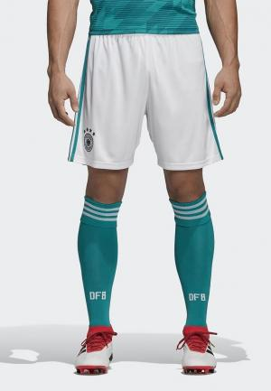 Шорты спортивные adidas DFB A SHO. Цвет: белый