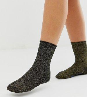 Хлопковые черные носки с золотистыми блестками -Серебряный Birkenstock