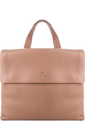 Кожаный рюкзак с двумя отделами Modalu London. Цвет: коралловый