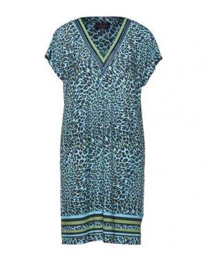 Короткое платье HALE BOB. Цвет: лазурный