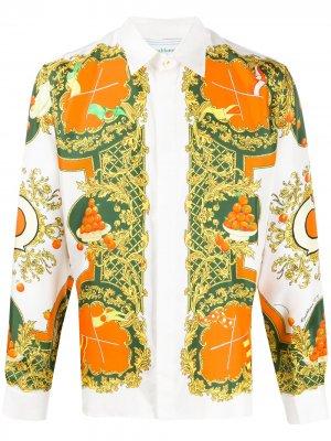 Рубашка с узором Casablanca. Цвет: нейтральные цвета
