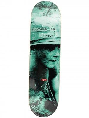 Скейтборд Is Love Supreme. Цвет: зеленый