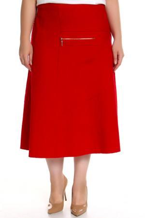 Юбка EVA Collection. Цвет: красный