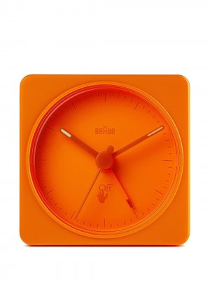 Квадратные часы из коллаборации с Braun (5.5x5.5 см) Off-White. Цвет: оранжевый