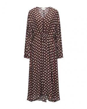 Платье длиной 3/4 ALYSI. Цвет: какао