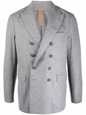Двубортный пиджак Eleventy. Цвет: серый