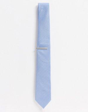 Голубой галстук и зажим для галстука -Мульти Topman