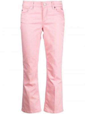 Укороченные джинсы с заниженной талией LIU JO. Цвет: розовый
