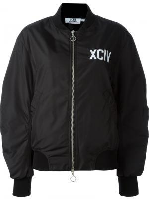 Куртка-бомбер с заплаткой-логотипом Gcds. Цвет: чёрный