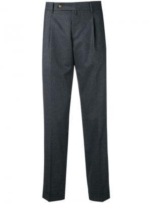 Классические брюки чинос Berwich. Цвет: серый