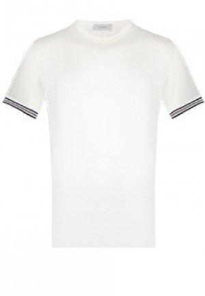 Футболка CORTIGIANI. Цвет: белый