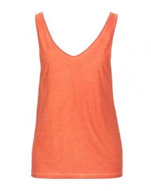 Майка MAJESTIC FILATURES. Цвет: оранжевый