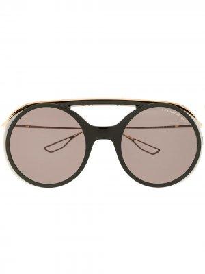 Солнцезащитные очки в круглой оправе Dita Eyewear. Цвет: черный