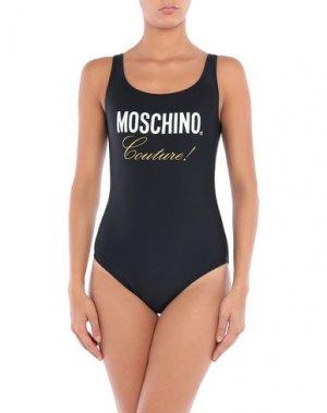 Слитный купальник MOSCHINO. Цвет: черный