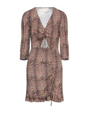 Короткое платье DIXIE. Цвет: верблюжий