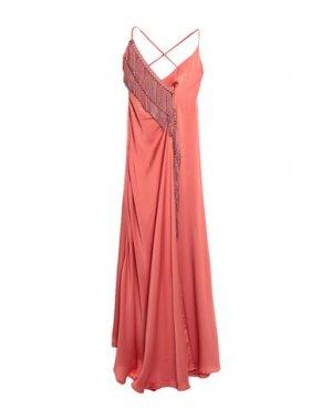 Длинное платье MANGANO. Цвет: коралловый