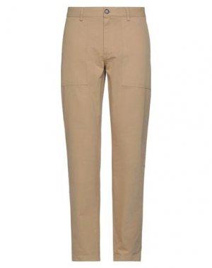 Повседневные брюки ANERKJENDT. Цвет: верблюжий