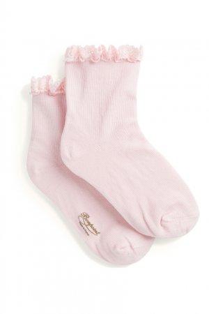Носки с кружевной отделкой Bonpoint. Цвет: multicolor
