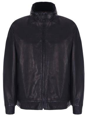 Куртка кожаная с мехом кролика SERAPHIN