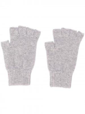 Трикотажные перчатки-митенки Pringle of Scotland. Цвет: серый