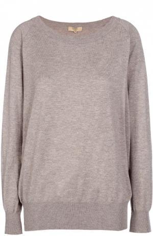 Пуловер свободного кроя с круглым вырезом Back Label. Цвет: бежевый