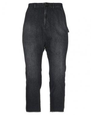 Джинсовые брюки-капри NILI LOTAN. Цвет: черный