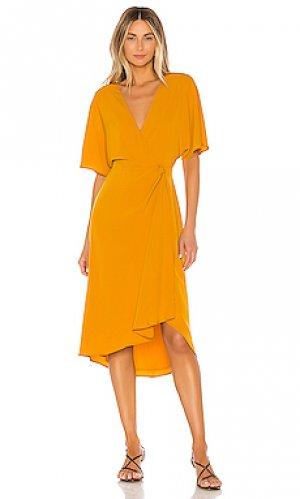 Платье romina House of Harlow 1960. Цвет: оранжевый