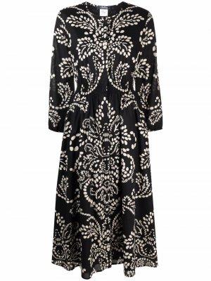 S Max Mara платье миди с принтом пейсли 'S. Цвет: черный