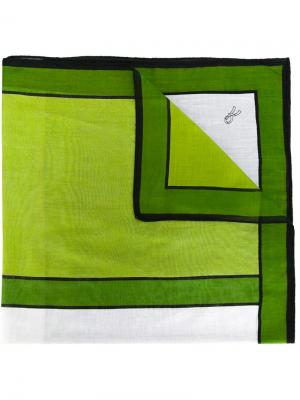 Платок с геометрическим узором Roberta di Camerino Pre-Owned. Цвет: зеленый