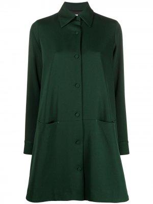 Однобортное пальто-рубашка Société Anonyme. Цвет: зеленый