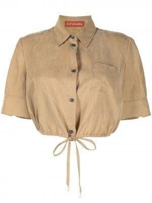 Укороченная рубашка Ben Altuzarra. Цвет: коричневый