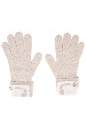 Перчатки Roberto Cavalli. Цвет: 450, rosa chiaro бежевый