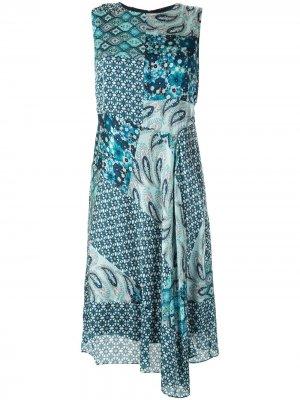 Платье Azure с принтом Elie Tahari. Цвет: синий