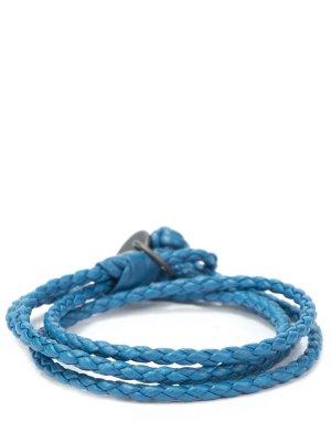 Плетеный браслет из кожи BOTTEGA VENETA