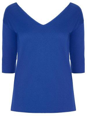 Хлопковый пуловер Malo. Цвет: синий