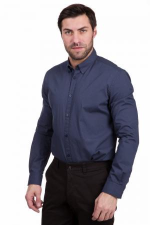 Рубашка с длинным рукавом Tom Tailor. Цвет: синий