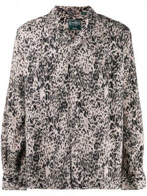Леопардовая рубашка Camp Gitman Vintage. Цвет: нейтральные цвета