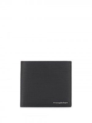 Бумажник с логотипом Ermenegildo Zegna. Цвет: черный
