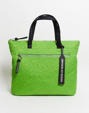Зеленая сумка на плечо -Зеленый House of Holland