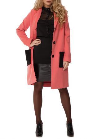 Пальто Gloss. Цвет: розовый